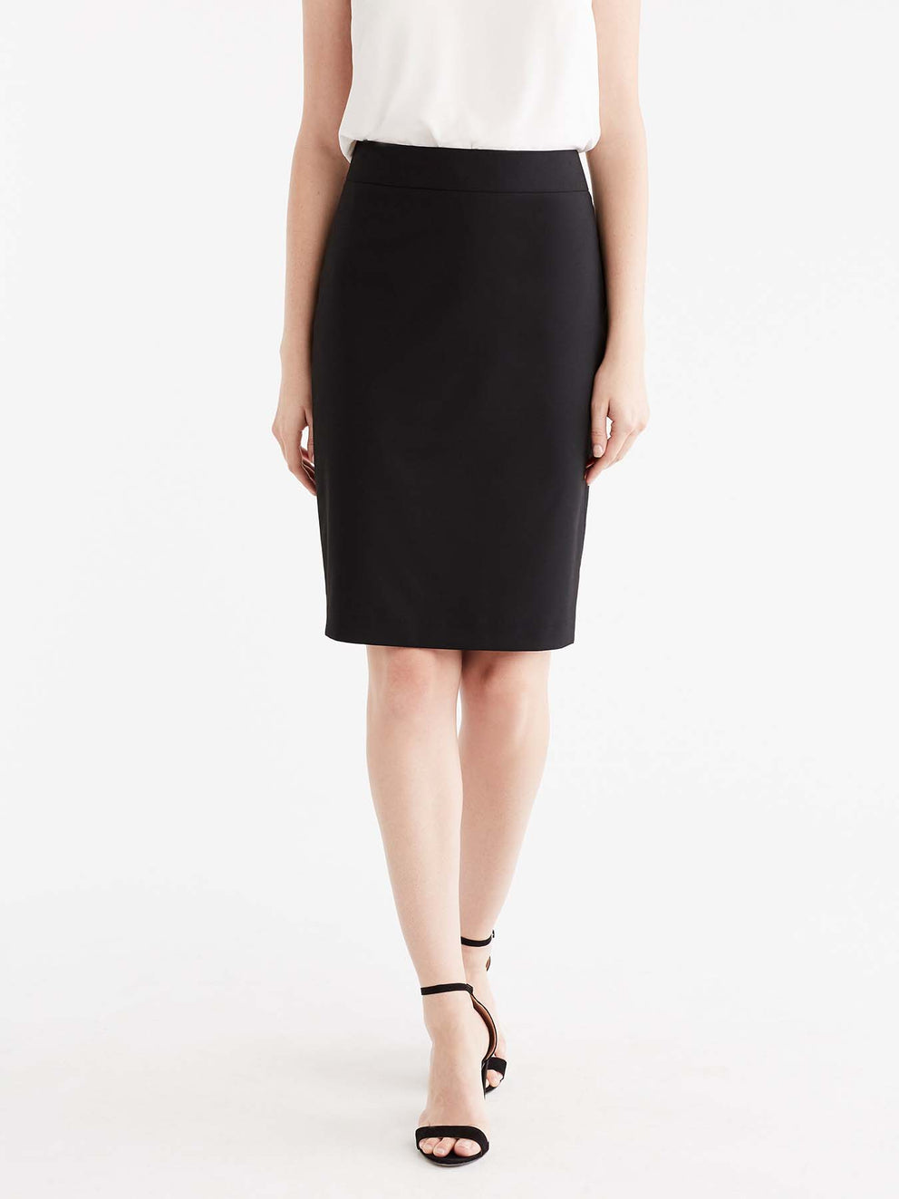 The Jones New York Washable Pencil Skirt in color Black - Image Position 1
