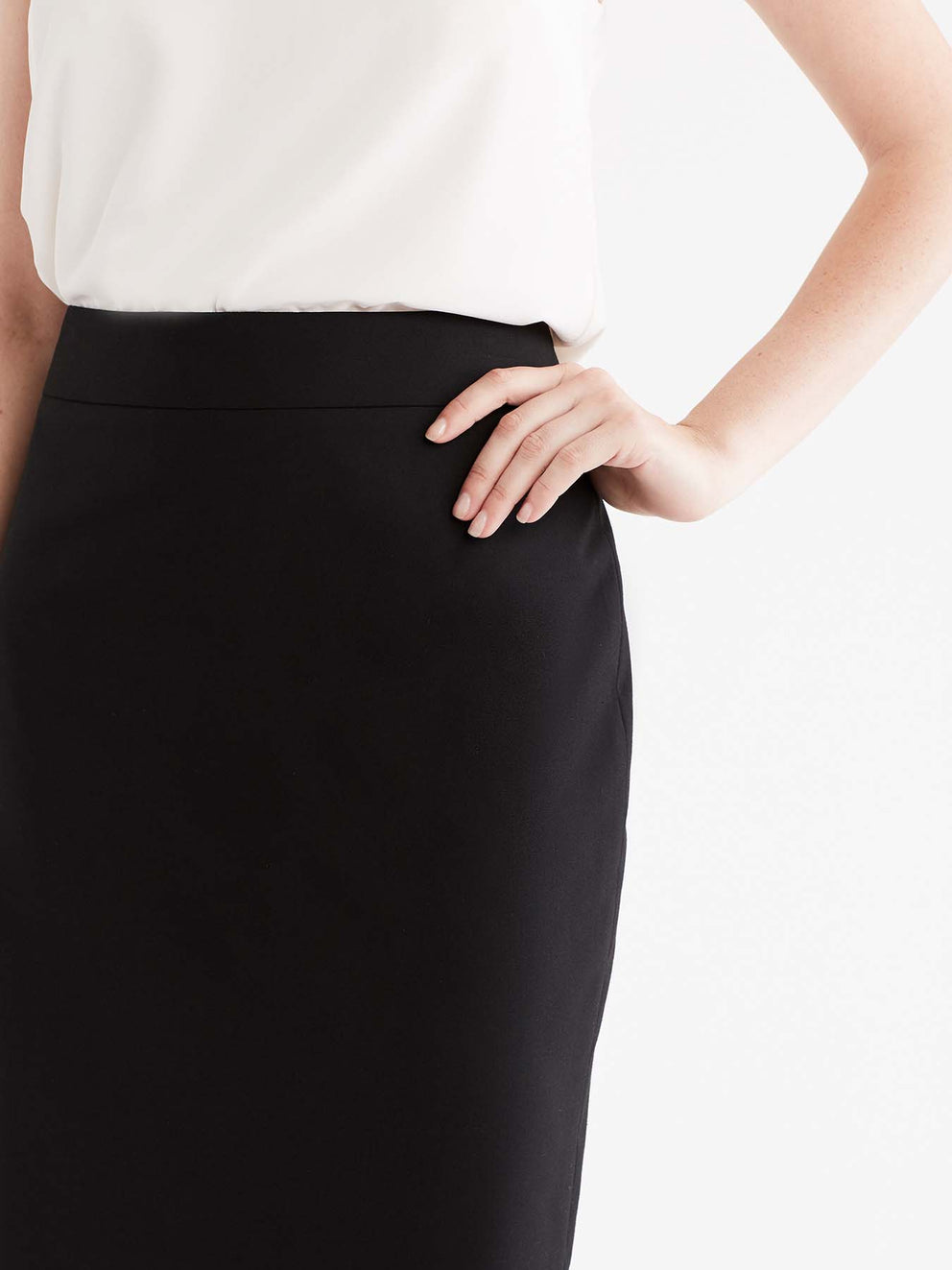The Jones New York Washable Pencil Skirt in color Black - Image Position 4