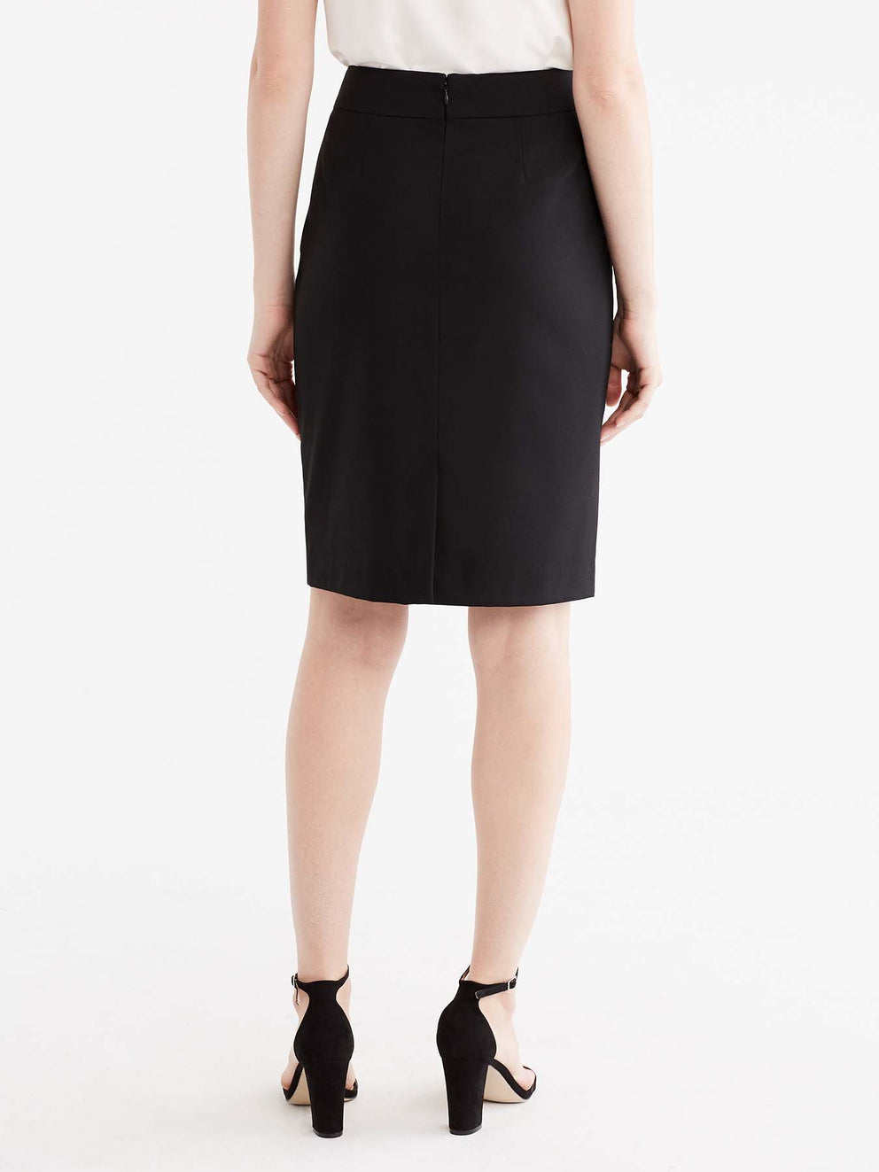 The Jones New York Washable Pencil Skirt in color Black - Image Position 6