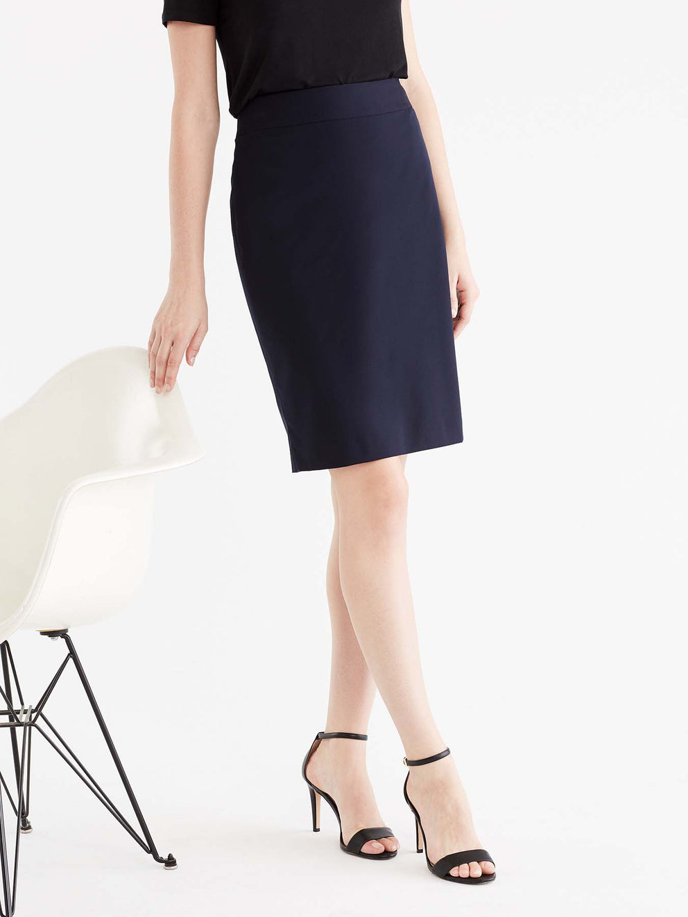 The Jones New York Washable Pencil Skirt in color Navy - Image Position 1