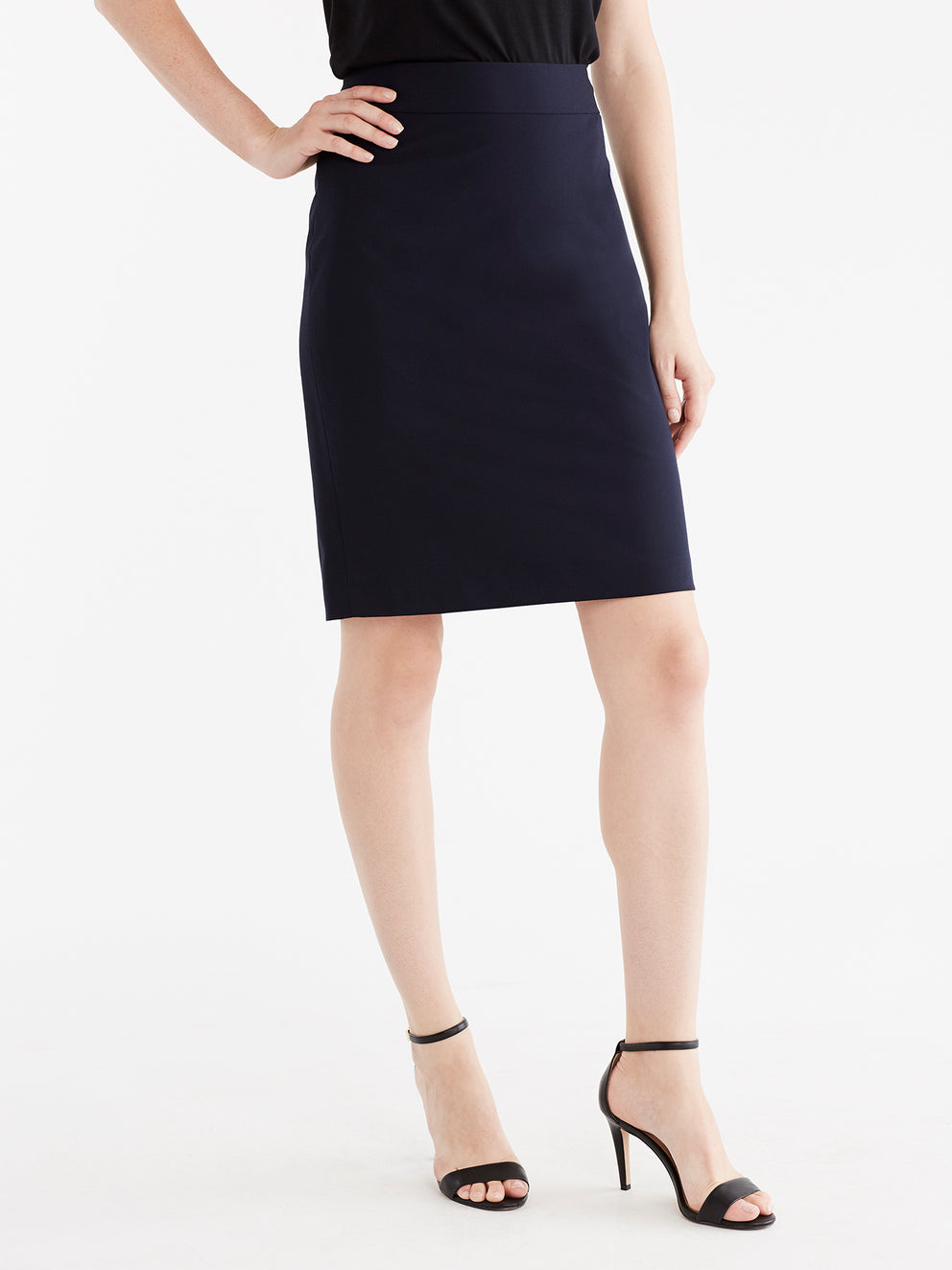 The Jones New York Washable Pencil Skirt in color Navy - Image Position 4