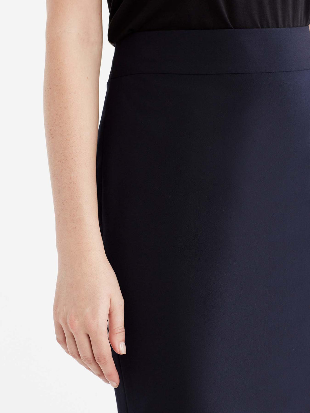 The Jones New York Washable Pencil Skirt in color Navy - Image Position 3