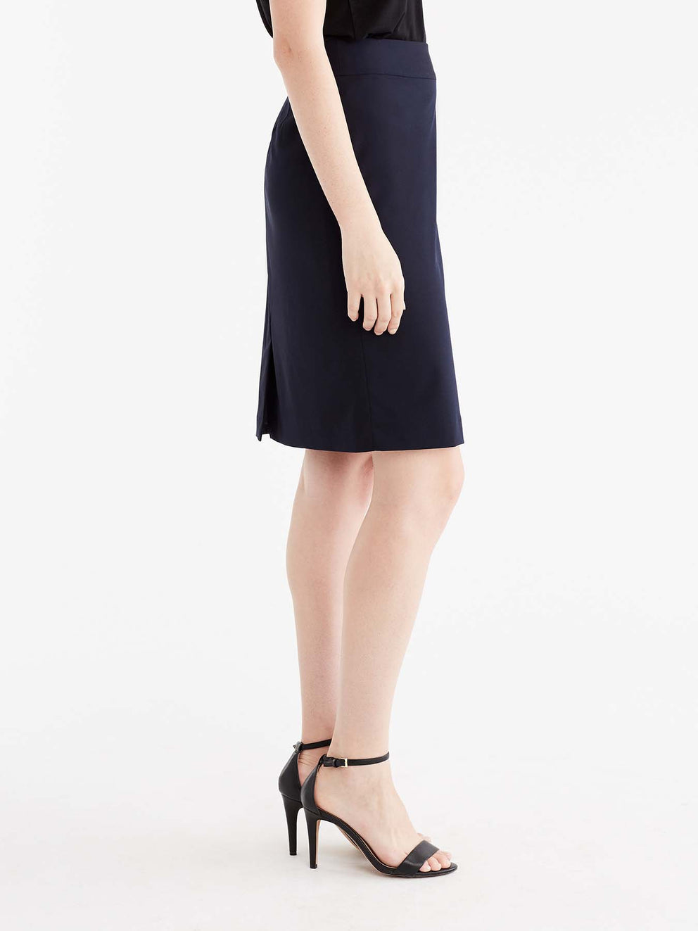 The Jones New York Washable Pencil Skirt in color Navy - Image Position 5