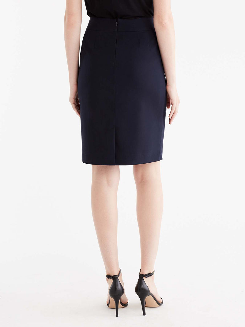 Navy Washable Pencil Skirt Color Navy