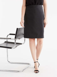 Pewter Washable Pencil Skirt Color Grey