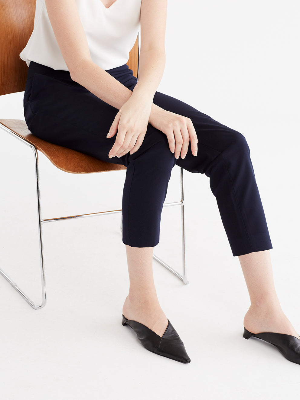 The Jones New York Washable Grace Ankle Pant in color Navy - Image Position 2