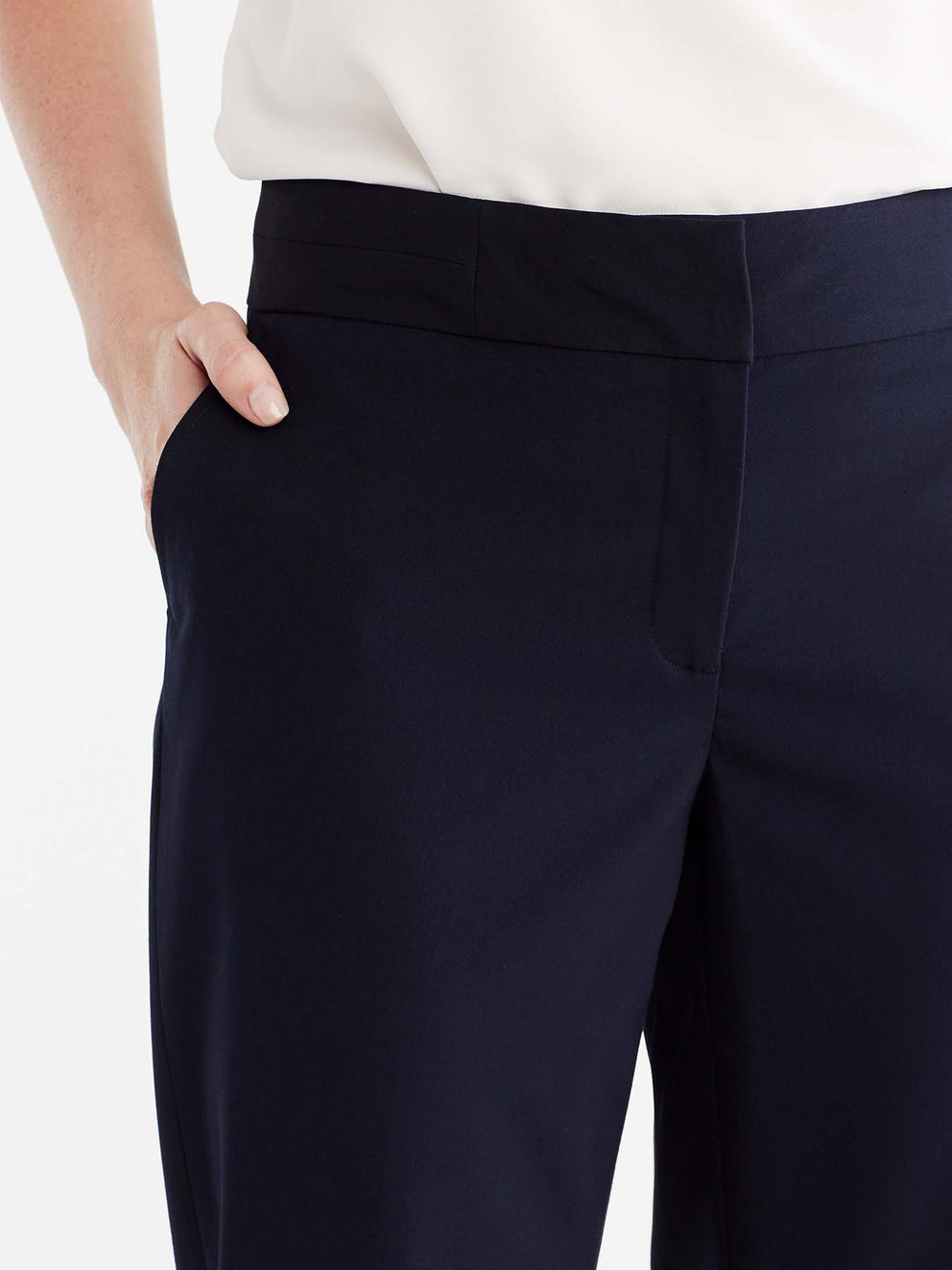 The Jones New York Washable Grace Ankle Pant in color Navy - Image Position 3