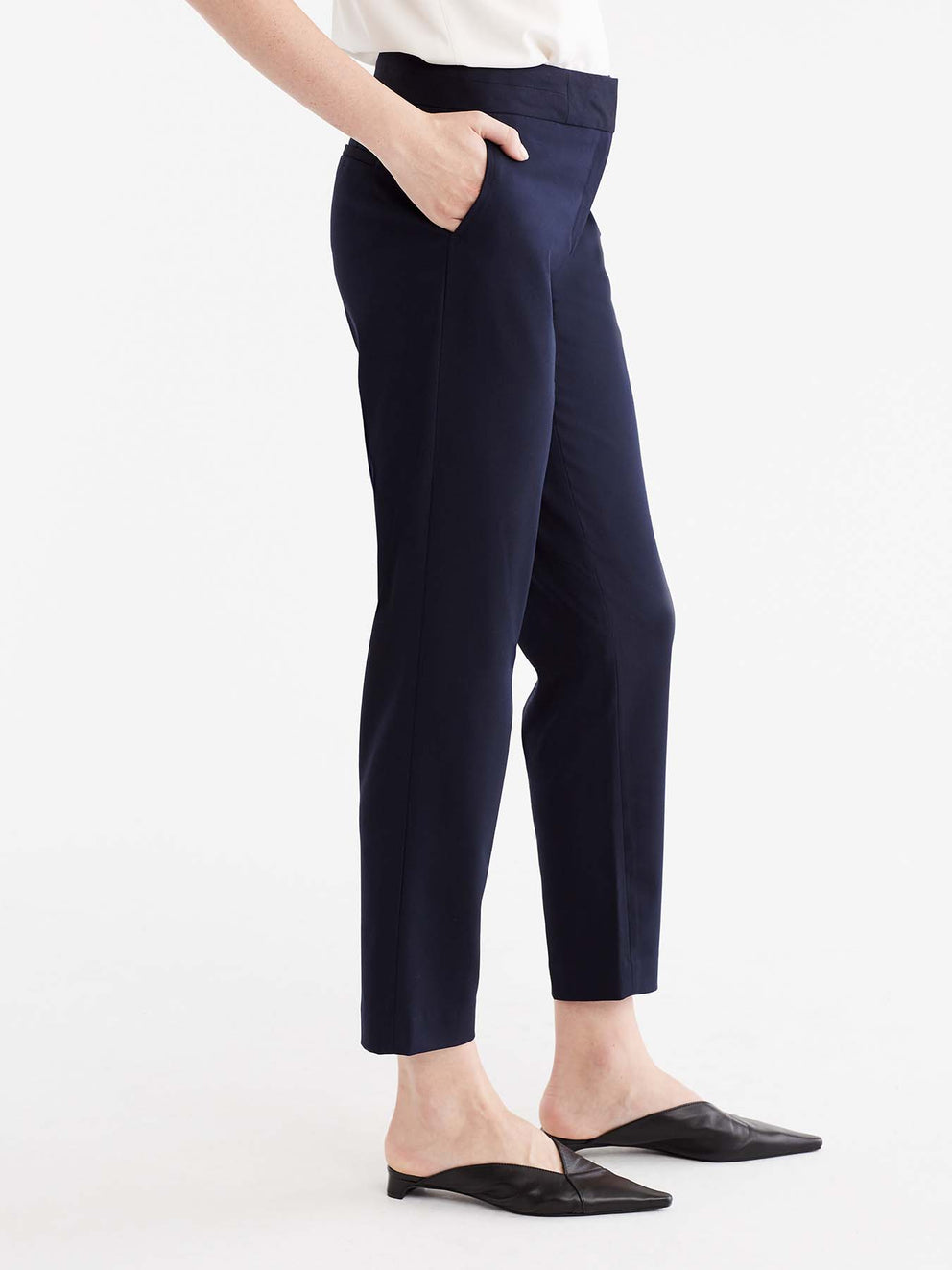 The Jones New York Washable Grace Ankle Pant in color Navy - Image Position 4