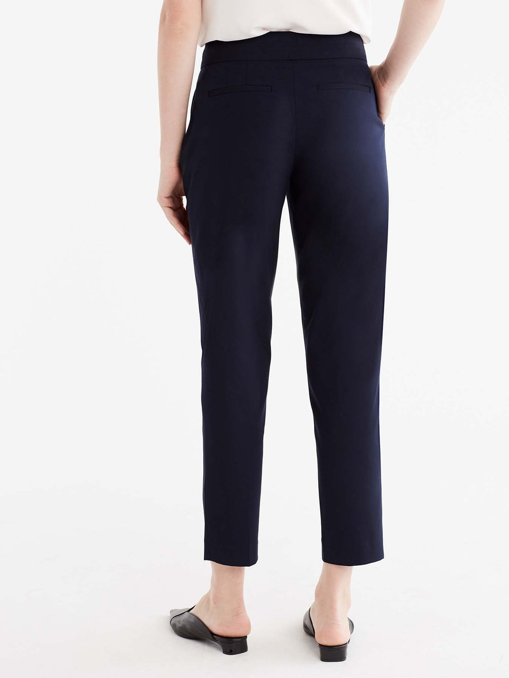 The Jones New York Washable Grace Ankle Pant in color Navy - Image Position 5