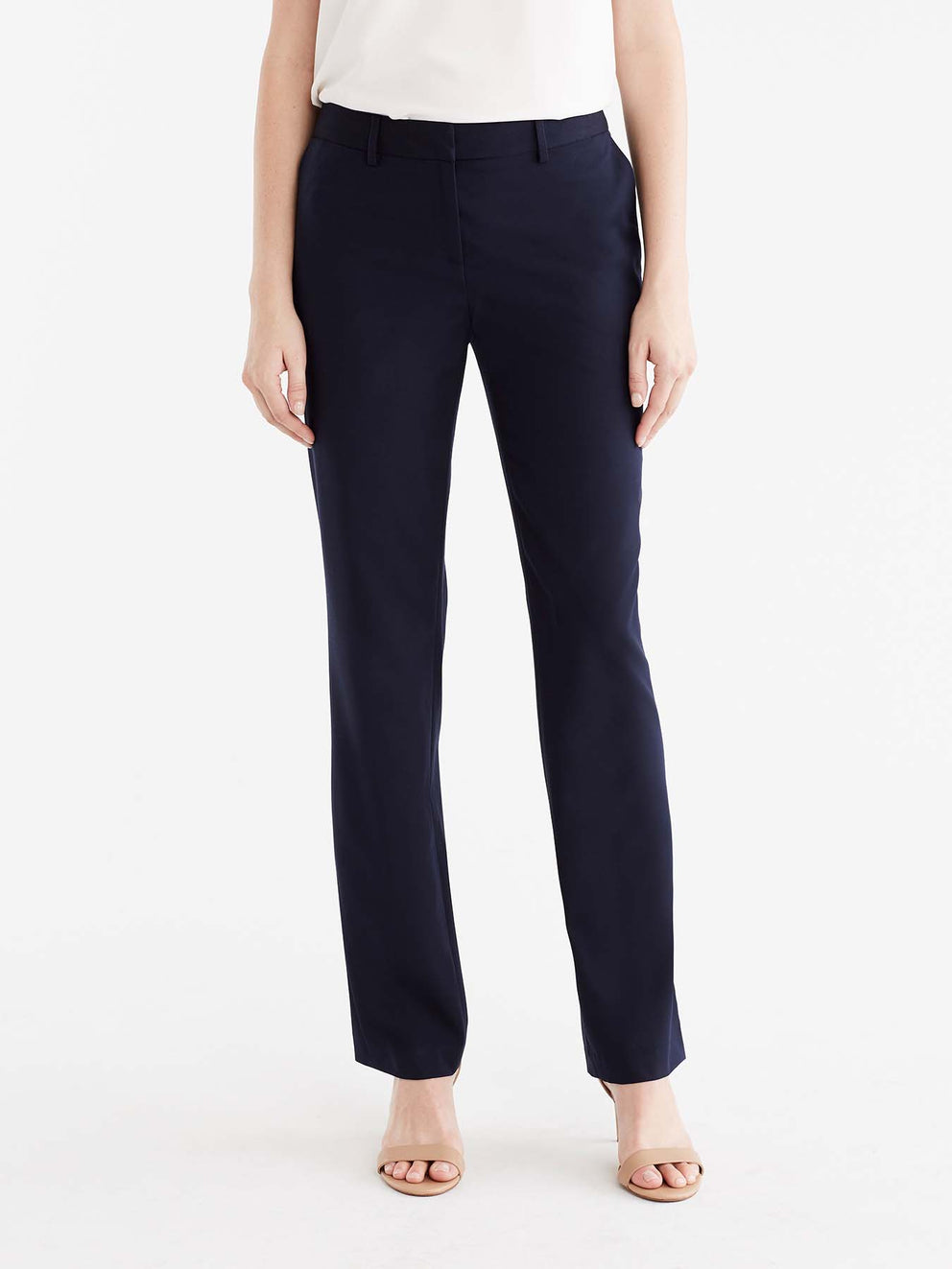 The Jones New York Washable Sydney Pant in color Navy - Image Position 4