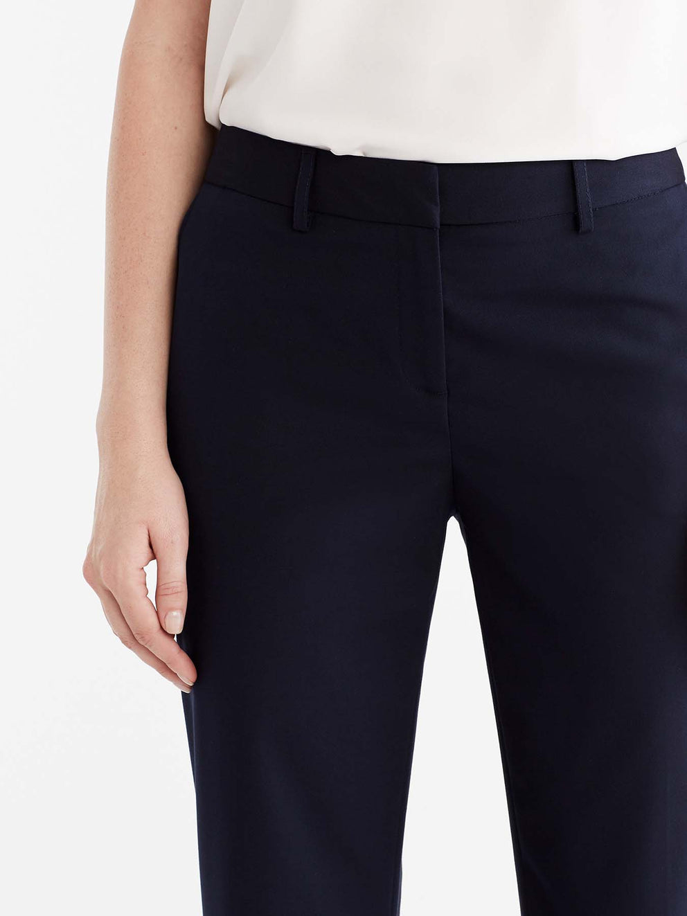 The Jones New York Washable Sydney Pant in color Navy - Image Position 3