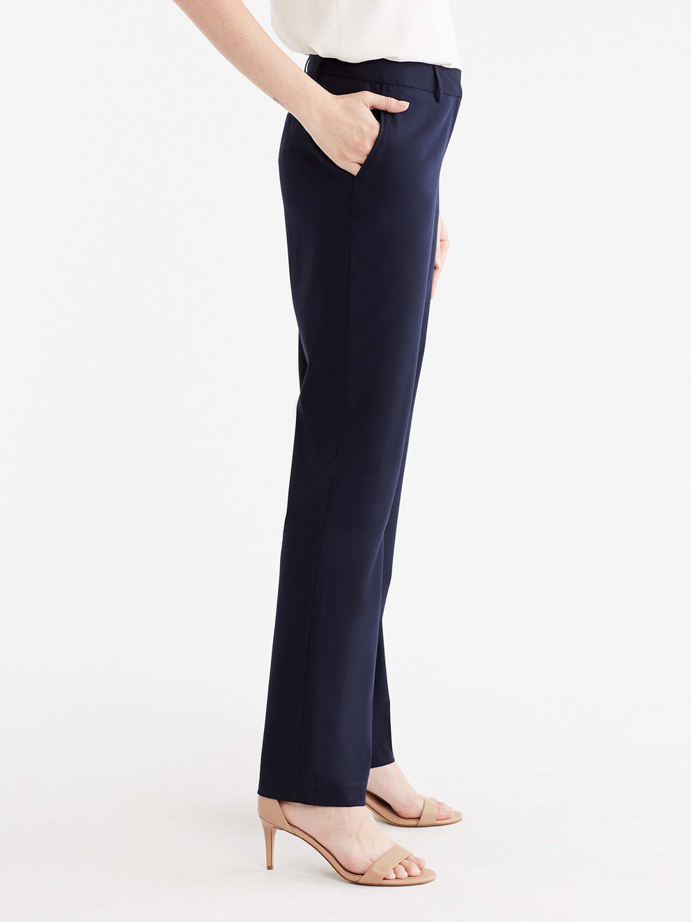 The Jones New York Washable Sydney Pant in color Navy - Image Position 5