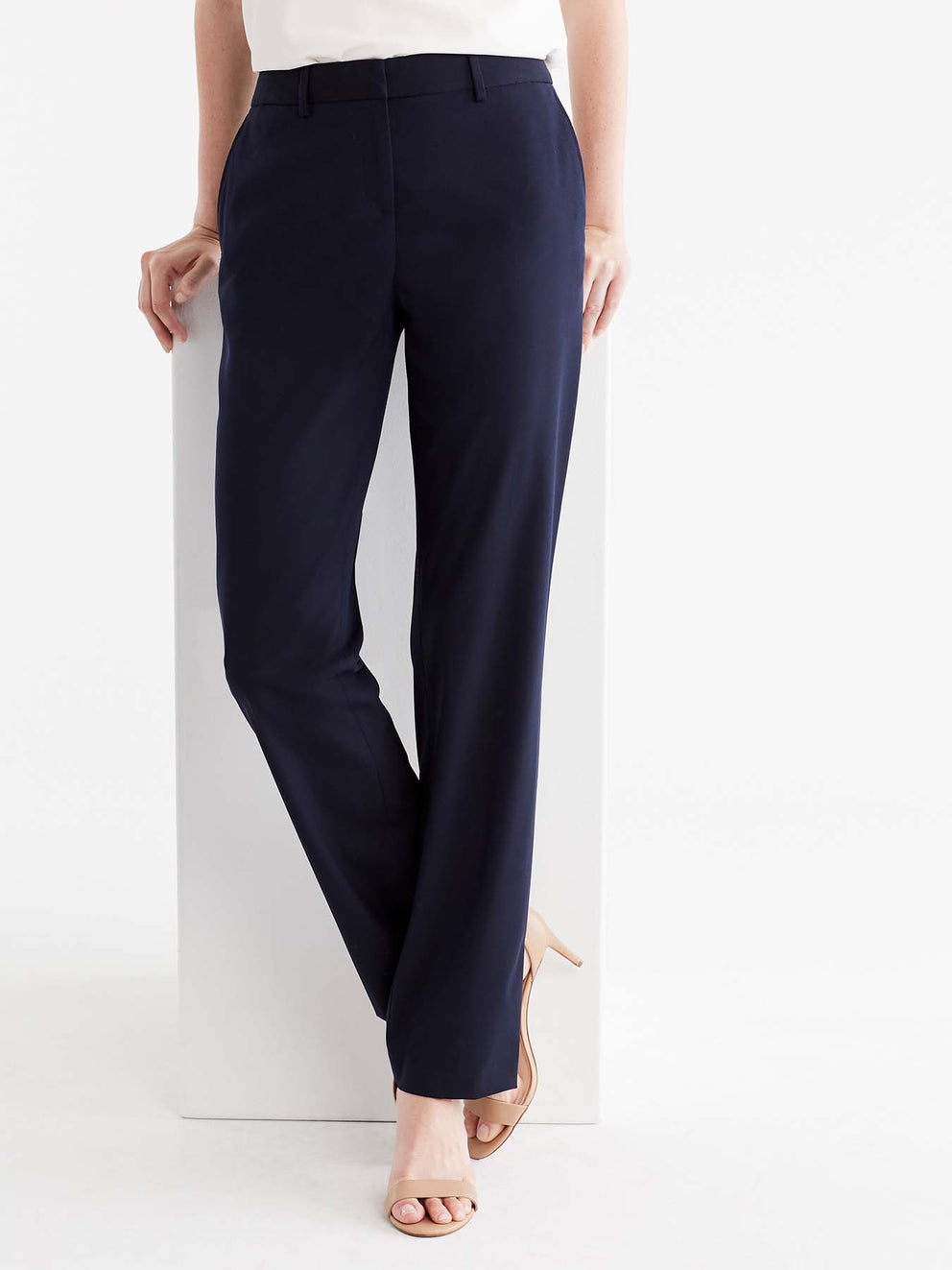 The Jones New York Washable Sydney Pant in color Navy - Image Position 1