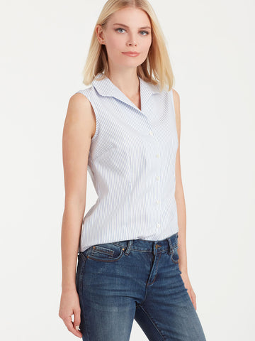 Striped Non-Iron Sleeveless Shirt