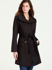 The Jones New York Double Collar Rain Trench in color Black - Image Position 1