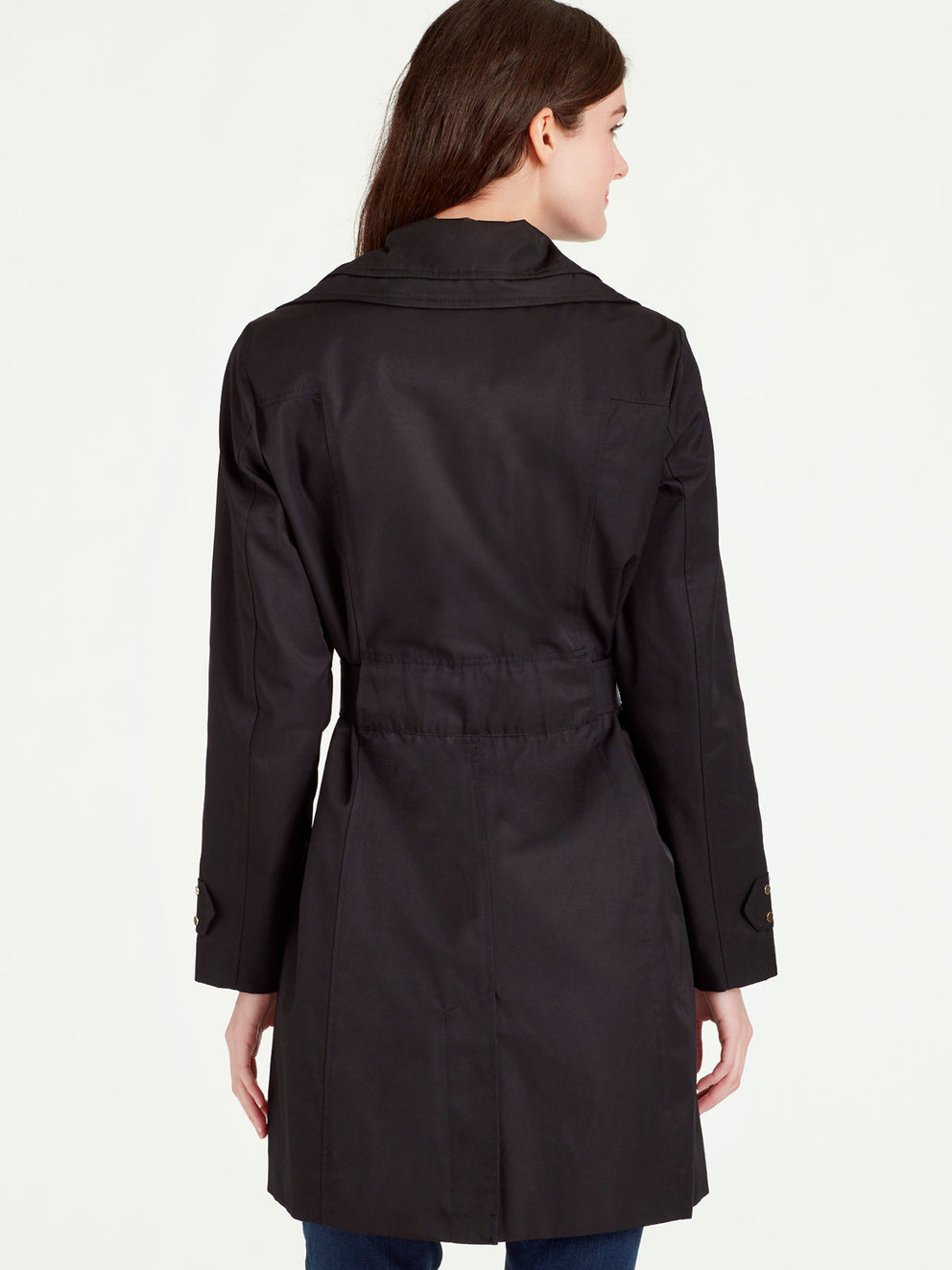 The Jones New York Double Collar Rain Trench in color Black - Image Position 3