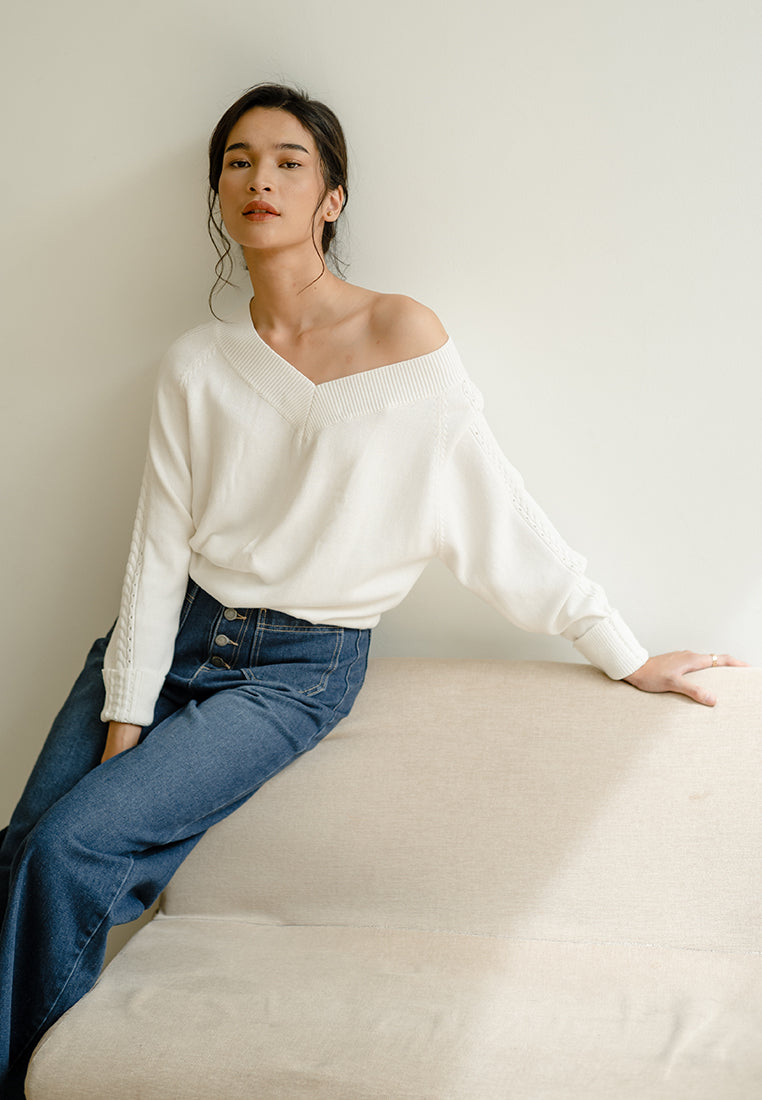 MARIKO Stripes Pants - Black