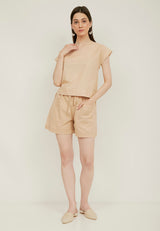 YUNA Basic Short Pants - Cream