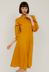 HIMAWARI Midi Dress - Yellow Mustard