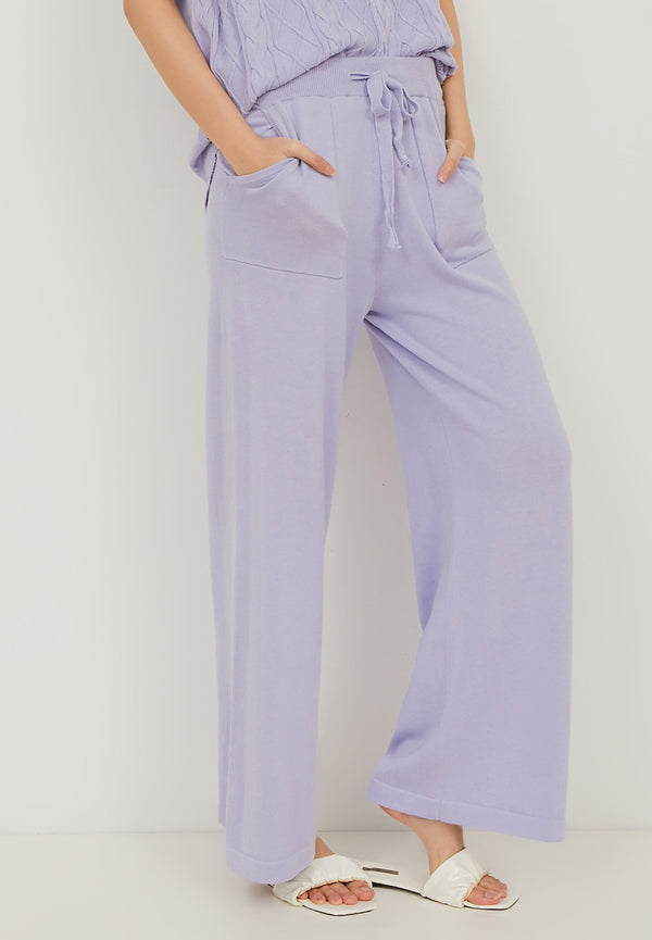 HANA Knitted Pants - Lilac