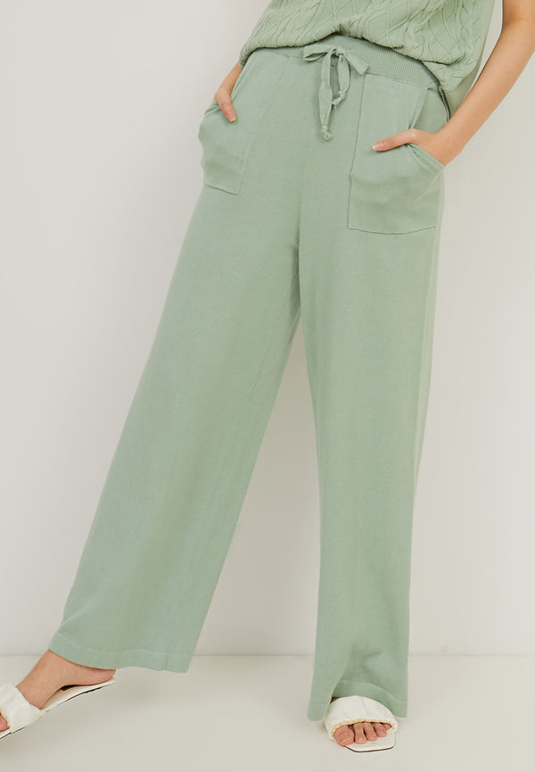 HANA Knitted Pants - Mint