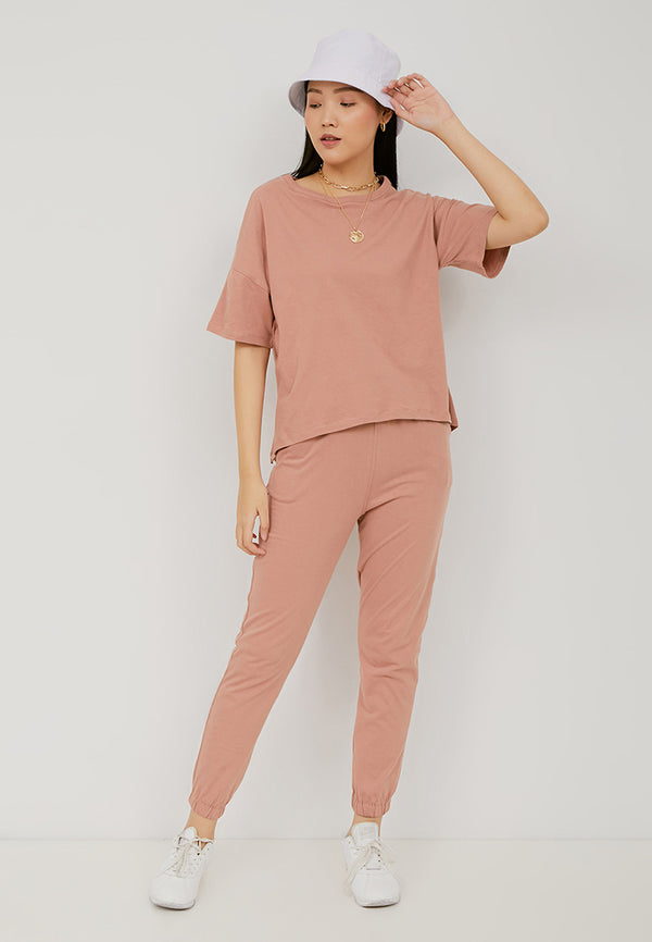 ORITAMI Basic Tee - Dusty Pink