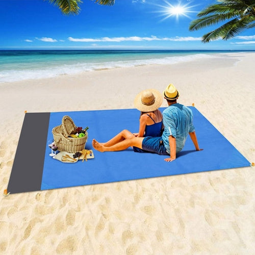 2x2.1m Waterproof Pocket Beach Blanket Folding Camping Mat Mattress Portable Lightweight Mat Outdoor Picnic Mat Sand Beach Mat - Fresh Deals Shop