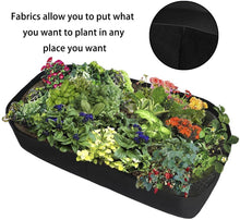 Load image into Gallery viewer, 1PC Fabric Raised Garden Bed Rectangle Breathable Planting Container Growth Bag Home Garden Supplies