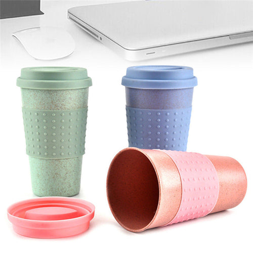 Travel Portable Pink Blue Green Peas Thermally Insulated Tea Mug