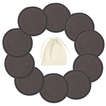 Load image into Gallery viewer, Reusable Bamboo Cotton Pads Make up Facial Remover Triple Layers Wipe Pads Nail Art Cleaning Pads Washable Pads with Laundry Bag - Fresh Deals Shop