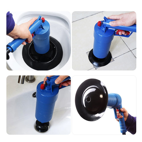 Air Power Drain Blaster Gun High-Pressure Powerful Manual Sink Plunger Opener Cleaner Pump For Bath Toilets Bathroom Show - Fresh Deals Shop