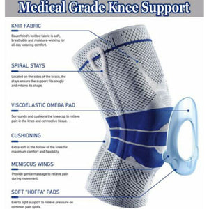 Silicone Spring Knee Brace Sport Support Strong Meniscus Protection Compression Lnee Pads - Fresh Deals Shop
