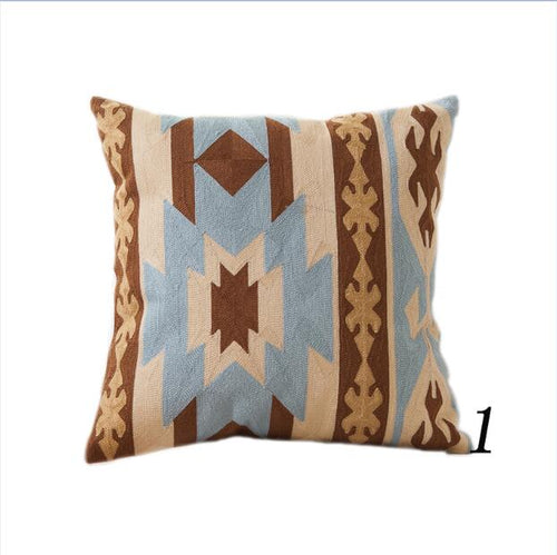 Kilim Pattern Cushion Cover Embroidery Throw Pillow Cover For Sofa