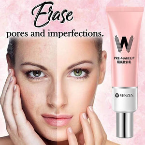 30ml VENZEN W Primer Make Up Shrink Pore Primer Base Smooth Face Brighten Makeup Skin Invisible Pores Concealer Korea - Fresh Deals Shop