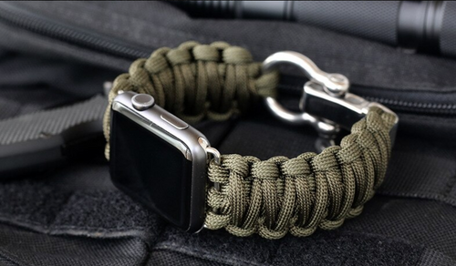 Sport Bracelet watch strap For Apple Watch band 5 4 3 2 44mm 42mm iwatch band 40mm 38mm Survival Rope Metal Bolt Clasp Bracelet - Fresh Deals Shop