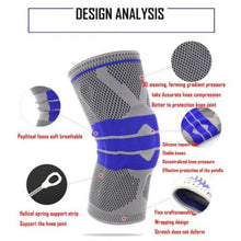 Load image into Gallery viewer, Silicone Spring Knee Brace Sport Support Strong Meniscus Protection Compression Lnee Pads - Fresh Deals Shop