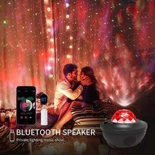 Load image into Gallery viewer, Colorful Starry Sky Projector Blueteeth USB Voice Control Music Player LED Night Light USB Charging Projection Lamp Kids Gift - Fresh Deals Shop