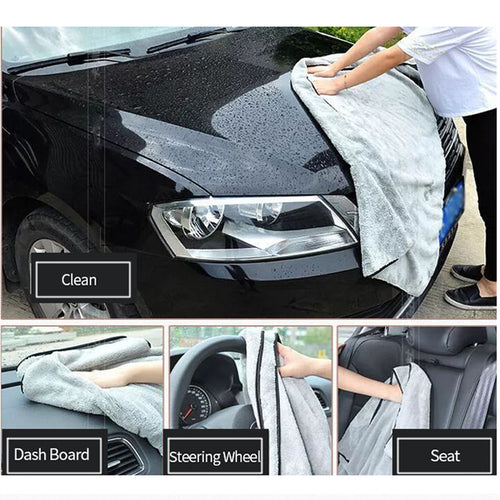 Microfiber Towel Car Wash Accessories 100X40cm Super Absorbency Car Cleaning Cloth Premium Microfiber Auto Towel One-Time Drying - Fresh Deals Shop