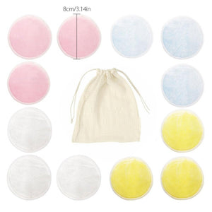 Reusable Bamboo Cotton Pads Make up Facial Remover Triple Layers Wipe Pads Nail Art Cleaning Pads Washable Pads with Laundry Bag - Fresh Deals Shop