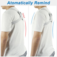 Load image into Gallery viewer, Adjustable Intelligent Posture Trainer Smart Posture Corrector Upper Back Brace Clavicle Support for Men and Women Pain Relief