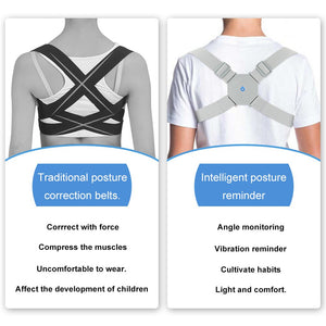 Adjustable Intelligent Posture Trainer Smart Posture Corrector Upper Back Brace Clavicle Support for Men and Women Pain Relief