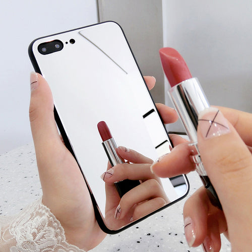 Fashion TPU makeup mirror Case for iPhone 11 Pro XS Max Xr Mobile phone protection Cover for iPhone 8 7 6S Plus SE Acrylic Case - Fresh Deals Shop