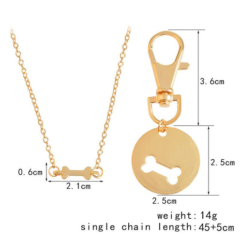 Human Dog Bone Charm Necklace - Fresh Deals Shop