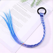 Load image into Gallery viewer, New Girls Colorful Wigs Ponytail Hair Ornament Headbands Rubber Bands Beauty Hair Bands Headwear Kids Hair Accessories Head Band