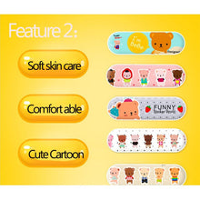 Load image into Gallery viewer, 80PCS 5 Pattern Cartoon Band Aid Cute Water Resistant Breathable Bandages First Aid for Kids Children Emergency Kit