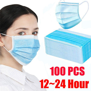 Lowest Price! 100pcs Face Mouth Anti dust Mask Disposable Protect 3 Layers Filter Dustproof 12-24 hours Shipping Towayer