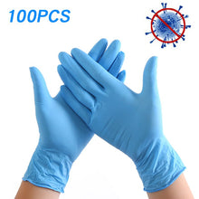 Load image into Gallery viewer, 100Pcs/Box Disposable Nitrile Gloves Waterproof Exam Gloves Ambidextrous For Medical House Gloves Nitrile guantes nitrilo