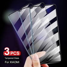 Load image into Gallery viewer, 3Pcs 9H Tempered Glass For Xiaomi Mi 8 9 Lite 8 9 SE 9 9T A3 A2 Lite Pocophone F1 Screen Protector For Redmi Note 7 7 Pro Glass