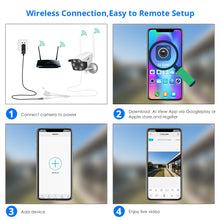 Load image into Gallery viewer, 1080P 2MP 4MP  WIFI IP Camera Outdoor ONVIF Wireless Waterproof Camera App Alarm Color Night Vision TF Card Hiseeu