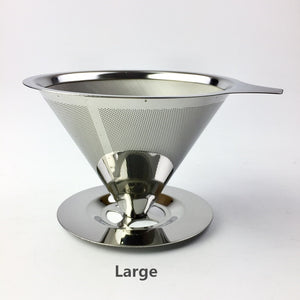Stainless Steel Coffee Filter Holder Reusable Coffee Filters Dripper v60 Drip Coffee Baskets